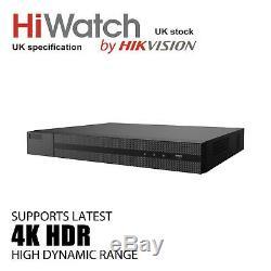 Hiwatch Hikvision Dvr 8ch 8mp Full 4k Dvr-208u-k1 H. 265 Hdtvi Dvr Video Recorder