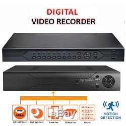 Hybrid CCTV DVR AHD 4/8/16 Channel HD Security Video Recorder VGA HDMI BNC UK
