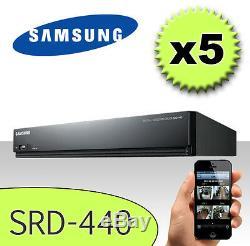 JOB LOT 5 x Samsung SRD-440 4 CHANNEL DVR Mobile HDD CCTV Camera 500GB Recorder