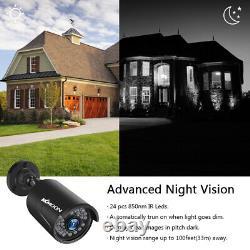 KKmoon 4CH 1080P AHD DVR Video Recorder 41080P 2MP CCTV Camera 1TB HDD Kit M2W3