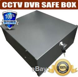 Metal LOCKABLE RECORDER LOCK BOX SAFETY BOX CCTV DVR Safe Security Box with Fan