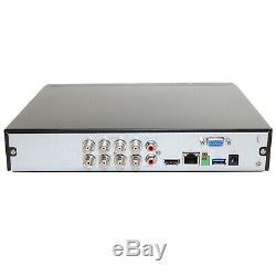 NightWatcher NW-8CVI-8MP 8 Channel 2TB DVR 8MP 4K Ultra HD CCTV Recorder BNC