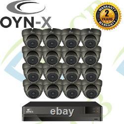 Oyn-x Kestrel Turret Dome CCTV Camera Recorder DVR 1080p HD Kit Security 16CH