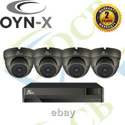 Oyn-x Kestrel Turret Dome CCTV Camera Recorder DVR HD Kit Security 5mp Varifocal