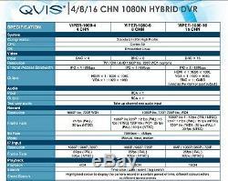 QVIS ONYX CCTV Viper 1080N 8 Channel 4-In-1 DVR with 2TB HDD 1080N HD Recorder