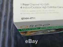 Q-See 8Ch HD1080p DVR + 4 Cameras Records 1TB Video Surveillance System Motion