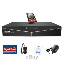 SANNCE H. 264 Powerful 5IN1 1080P HDMI 8CH DVR Recorder Video CCTV Camera System