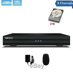 SANSCO 8 Channels 1080N Standalone CCTV DVR Recorder with 2TB HDD Pre-installed