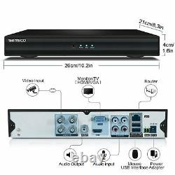SANSCO Smart Home 1080p CCTV Camera System, 4CH DVR Recorder with 1TB HDD