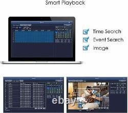 SMART 4 Channel CCTV Digital Video Recorder System DVR 4CH 1080P 4K 5MP AHD UK