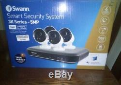 SWANN 5 Camera Security System 3K Series 5MP 8 Channel DVR 2TB CCTV Record Crime