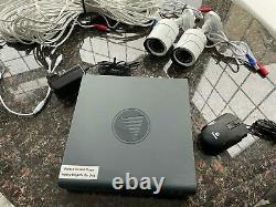 SWANN DVR-4550 4 Channel 1080p Digital Video Recorder DVR CCTV + 2 CAMERAS