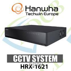 Samsung Hanwha HRX-1621 5-in-1 16CH DVR Recorder IP AHD HDTVI HDCVI CVBS CCTV