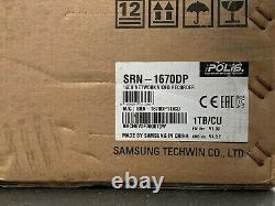 Samsung SRN-1670DP 16CH NVR IP CCTV RECORDER 1080P HD DVD HDMI VGA PTZ 1TB HDD