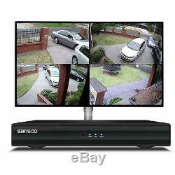 Sansco Smart Cctv Camera System, 4-Ch 1080N Dvr Recorder With 2X 1.3Mp Hd Outdoo