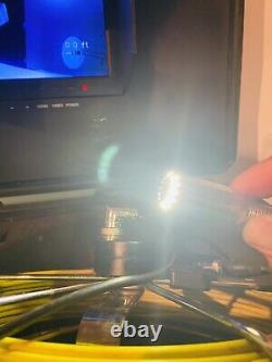 Scan Probe Drain CCTV LED Inspection 50M Push Rod Camera TV DVR Record Facility