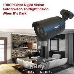 Smart 1TB/2TB 3000TVL 8 Channel 1080P HD CCTV DVR Video Recorder Outdoor Cameras