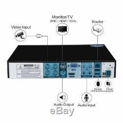 Smart 1TB/2TB 4 CH 1080P HD CCTV System DVR Video Recorder Outdoor Dome Cameras