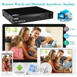 Smart 4CH DVR 1080P HD Home Outdoor Security CCTV Camera System With Hard Drive