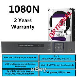 Smart CCTV DVR 4 8 16 Channel AHD 1080N/1080P Video Recorder HD VGA HDMI BNC UK