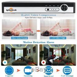 Smart CCTV DVR 4/8/16 Channel AHD 1080N Video Recorder HD 720P VGA HDMI BNC NEW