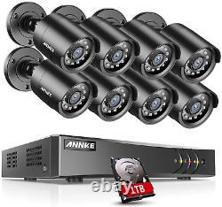 Smart CCTV DVR 8 Channel AHD Video Recorder 8x 2.0MP Security Cameras 1TB HD BNC