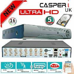 Smart CCTV DVR Digital Video Recorder Ultra HD 1920P VGA HDMI 16 Channel BNC UK