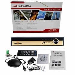 Smart CCTV DVR HDD 4 CH Channel AHD 2.4MP 1080P Video Recorder Full HD HDMI BNC