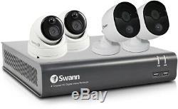 Swann 4580 4 Channel DVR 2TB Recorder 2x1080MSB 2x1080MSD HD 4 Camera CCTV Kit A