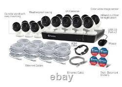 Swann 8580 16 Channel 4K CCTV DVR Recorder 2TB HDD HDMI Smart System PoE Camera
