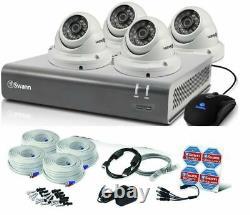 Swann 8 Channel 1080p HD DVR Recorder 1TB HDD & PRO-T854 Dome Camera CCTV Kit