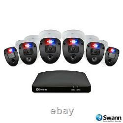 Swann CCTV System 8-Ch 1TB DVR Recorder + 6 x 1080p Full HD Enforcer Cameras NEW