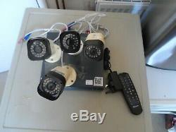 Swann DVR4-1580 4 Channel HD 720p Digital 500GB Video CCTV Recorder + 4 Camera