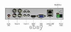 Swann DVR4-4580 4 Channel HD 1080p DVR AHD TVI 1TB HDD CCTV Recorder HDMI VGA