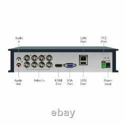Swann DVR8-4580 8 Channel HD 1080p DVR AHD TVI 2TB HDD CCTV Recorder HDMI VGA