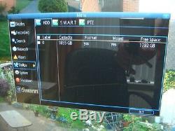 Swann DVR8 4600 8 Channel HD Digital Video Recorder DVR 2TB HDD CCTV HDMI VGA