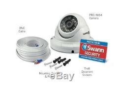 Swann DVR 4550 4 Channel HD Digital Video Recorder 2TB Pro-T854 Dome Camera CCTV