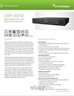 TruVision DVR 45 HD Rack mount professional CCTV recorder with 2TB hard disk