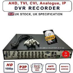 VIPER PRO CCTV 4/8/16Ch DVR 1080P HDMI Video Recorder Security Camera System UK
