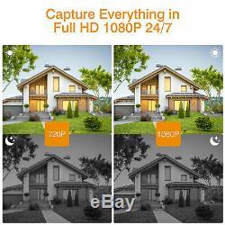 Wireless Wifi CCTV Camera 8CH 1080P DVR Recorder IP Security Night Vision System