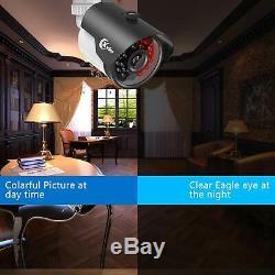 XVIM 8CH 4-in-1 720P DVR Security Camera System CCTV Recorder w 1TB Hard Drive