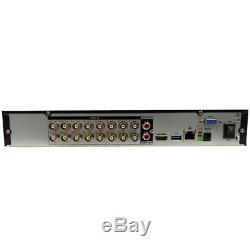 XVR 16CH CCTV Video Recorder 1080P Hybrid NVR AHD TVI CVI DVR 5-in-1 (1TB HDD)
