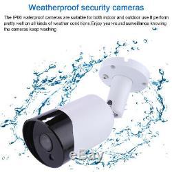 ZOSI 1080P 1TB DVR Recorder 3000TVL CCTV Camera IR Outdoor Home Security System