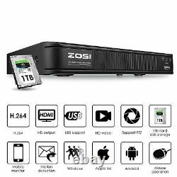 ZOSI 1080p Home Security Camera System Kit 8 Channel CCTV DVR Recorder with 6