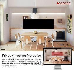 ZOSI 4K CCTV DVR Home Security System 8mp CCTV Camera Kit Outdoor H. 265 Recorder