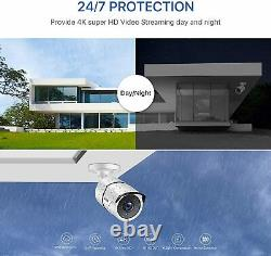 ZOSI 4K CCTV System 8MP CCTV Camera UHD Security DVR Recorder with Hard Drive 2T