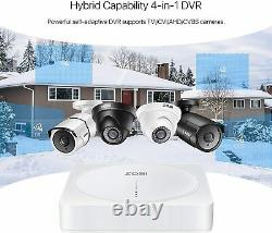 ZOSI 8CH 5MP DVR Digital Video Recorder for CCTV Security Camera System 2TB HDD
