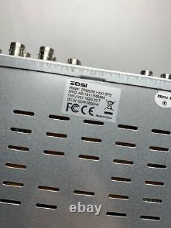 ZOSI 8 Channel Digital Recorder DVR 720p CCTV ZR08ZM 1TB 4 Zosi ZG2521A Cameras