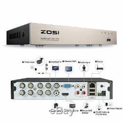 ZOSI CCTV Camera 1080N 8CH 1TB DVR Recorder 3000TVL Home Security Camera System