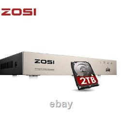 ZOSI Smart CCTV DVR 8 channel 2TB 1080P Video Recorder AHD VGA HDMI BNC H. 265+